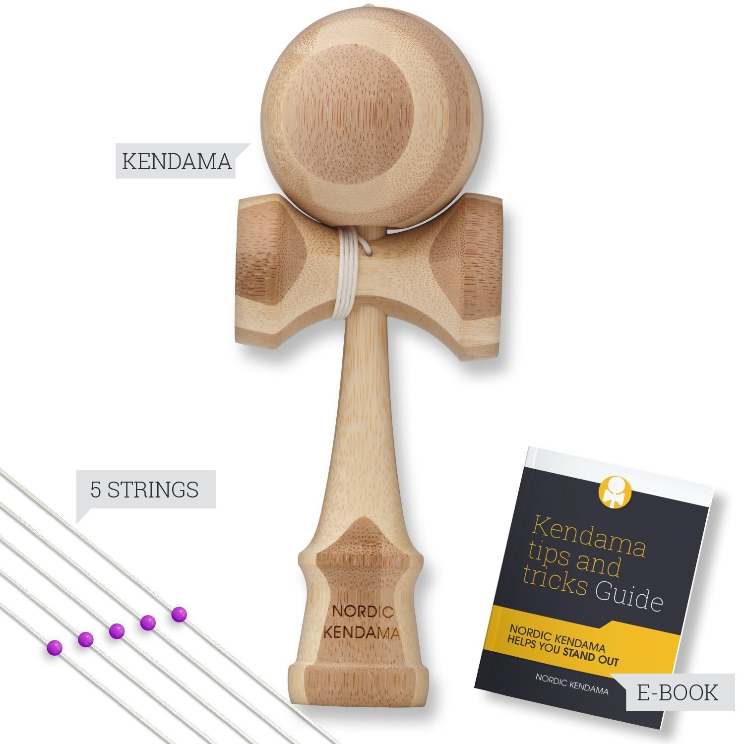 Nordic Kendama Wooden Toy