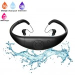 Tayogo Upgraded Waterproof Mp3 Player Headset Music Player, 8GB Memory, Earphones for Swimming, Surfing, Running, Sports and Diving-Black